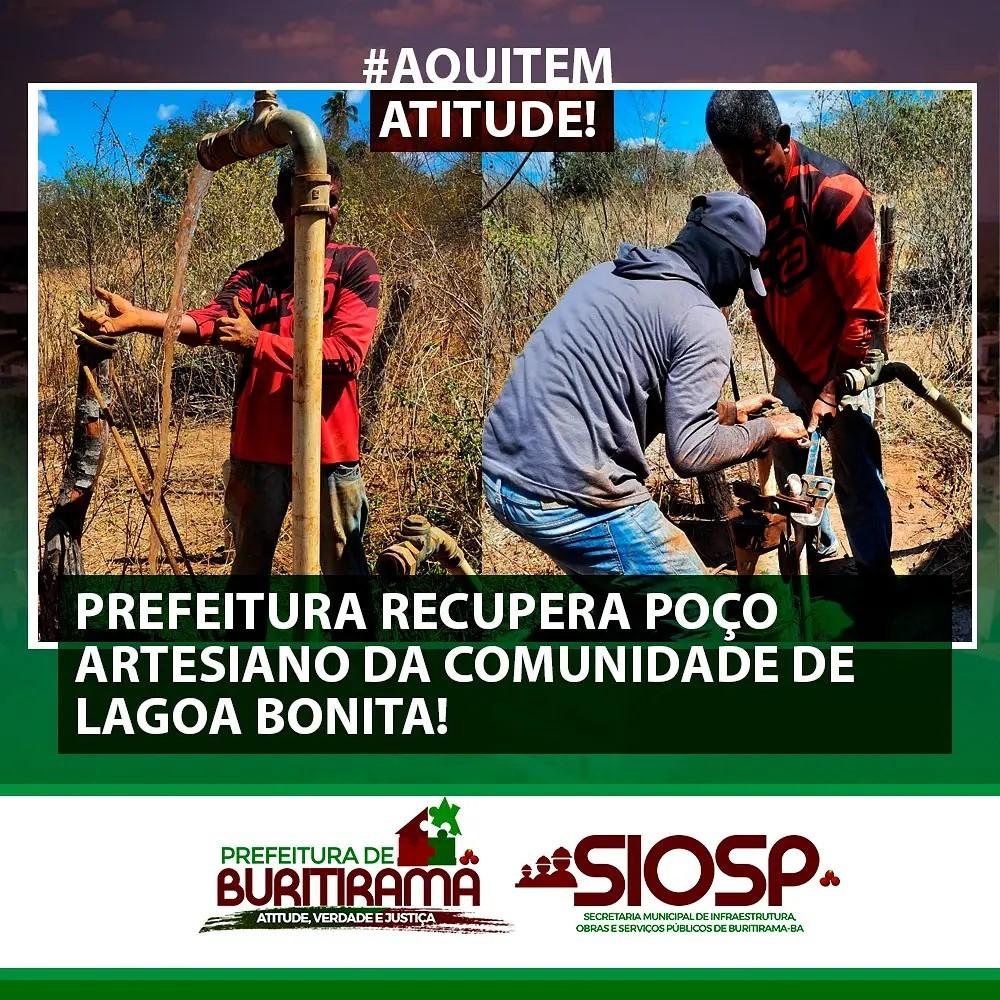 POÇO ARTESIANO DE LAGOA BONITA - RECUPERADO