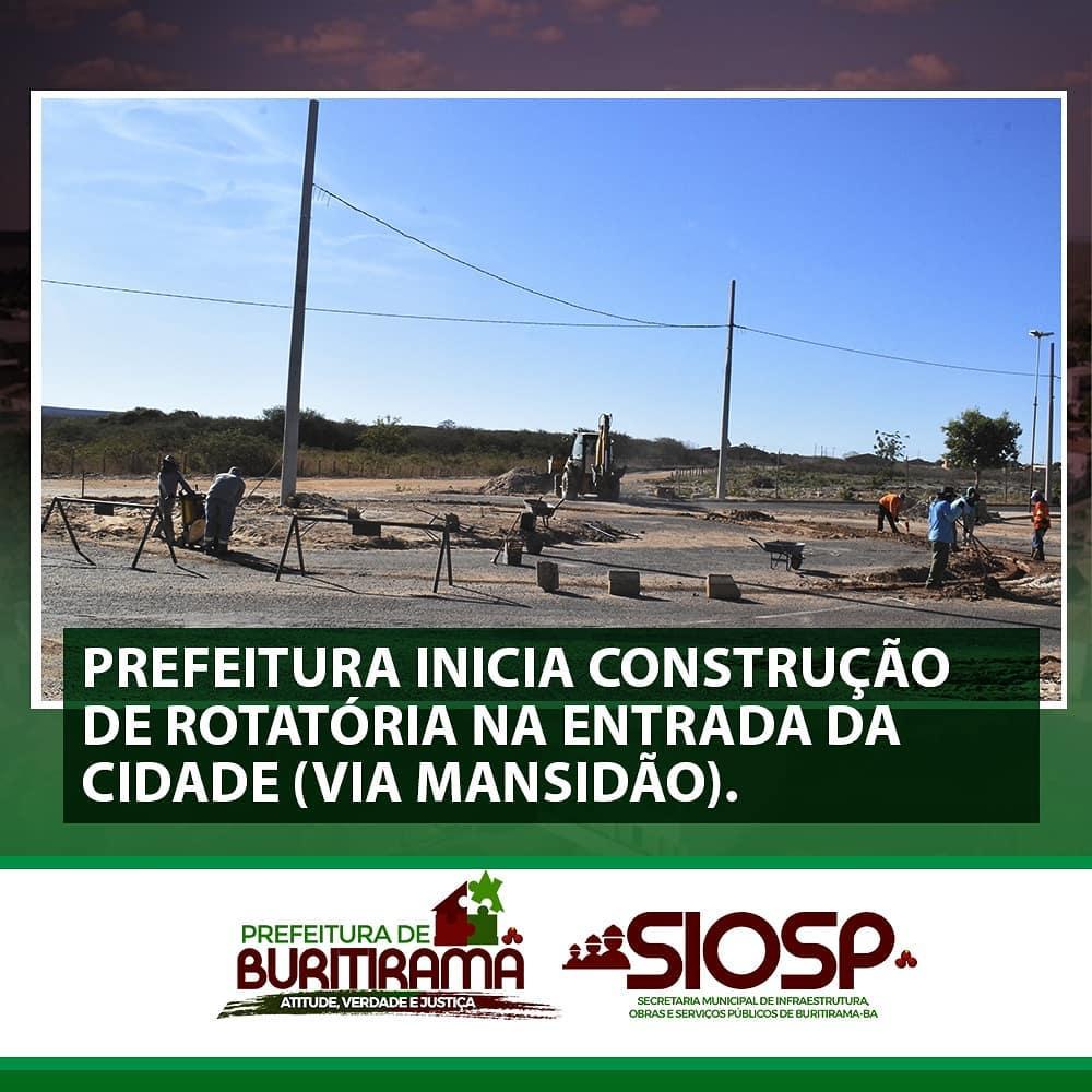 CONSTRUIÇÃO DE ROTATÓRIA NA ENTRADA DA CIDADE - INICIADA